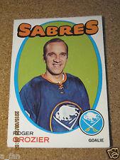 1971 72 OPC O Pee Chee # 36 Roger Crozier - Buffalo Sabres