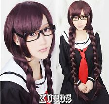 Danganronpa Dangan-Ronpa Toko Fukawa Fashion Hair Long Cosplay Costume Party Wig