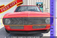 GTG 1967 Chevy Camaro 1PC Polished Upper Replacement Phantom Billet Grille Grill