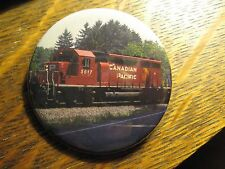 Canadian Pacific Railway Railroad Train Red Engine Car Pocket Lipstick Mirror