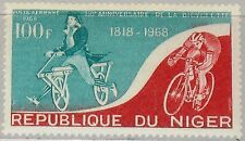 NIGER 1968 187 C88 150th Ann Invention of the Bicycle Dandy Horse Fahrrad MNH