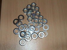 200 M12 BZP WASHERS AND 100 BZP M12 FULL HEX NUTS