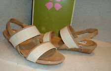 Naturalizer N5 Womens NWB Frazzle White Sand Wedge Sandals Shoes 6 MED NEW