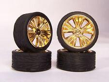 Hoppin Hydros 1/24 1/25 Slim 20's Gold Venetian Model Car Rims Wheels Tires