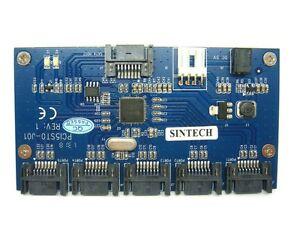 Sintech SATA 1 to 5 Ports Multiplier extender adapter riser card