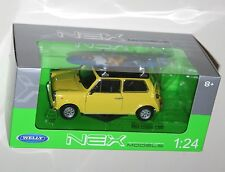 Welly - MINI COOPER 1300 (Yellow + Surfboard) Die Cast Model - Scale 1:24