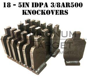 "5"" Tall IDPA NRA Knock-Over Rifle Shooting Targets - 3/8"" AR500 Steel - 18pc"
