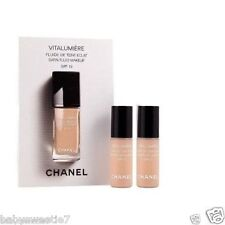 Chanel VITALUMIERE SATIN SMOOTHING FLUID MAKEUP #20 Claire 2.5ml x 2 = 5ml