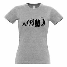 Sports Womens TShirt The Evolution Of A Golfer Golf Club Putt Course Iron Hole