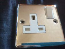 Volex 1 Gang 2 Way 10a Light Switch Polished Chrome With White Inserts