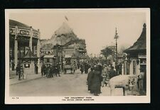 EXHIBITION British Empire Amusement Park super busy street scene RP PPC