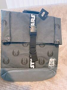 Star Wars Adults Older Kids Fold Over Backpack Grey School Bag