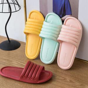 Womens Mens Bathroom Sandals Shoes Shower Bath Slippers Non-Slip Soft Bottom