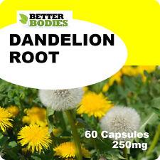 60 Pissenlit 250mg Capsules Detox Foie Rétention D'eau Peau Psoriasis