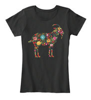 Floral Goat New Women's Premium Tee T-Shirt