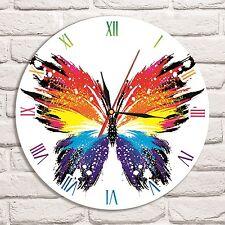Reloj De Pared Mariposa Diseño de Color Vinyl Record Hogar Arte Coleccionista de oficina de tienda 3