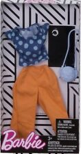 Barbie Fashions Complete Look Blue Polka Dot Top Orange Pants Set Purse Bracelet
