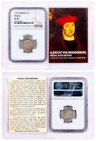 1525-1569 Prussia, Silver Groschen - Albrecht von Brandenburg NGC XF45 SKU50494