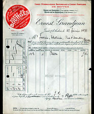 """BOURGES JOUET-sur-l'AUBOIS (18) CHAUX & CIMENT de BEFFES """"Ernest GRANDJEAN"""" 1926"""