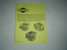 Briggs & Stratton 91700 90700 engine operator's instruction service manual