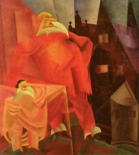 The Red Clown  by Lyonel Feininger   Giclee Canvas Print Repro