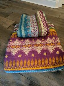 Southwest Boho 3 Piece King Quilt Set Greenland Home Fashions