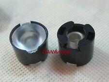 50pcs High Power LED lens 16mm convex lens pmma 90degree led lens black holder
