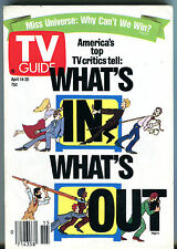 TV Guide April 14-20 1990 What's In What's Out EX 011216jhe2