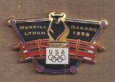 1998 Merrill Lynch Nagano Olympic Pin Bull USA Rings