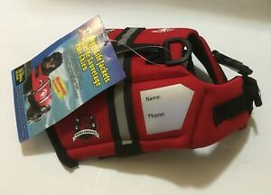 Paws Aboard Doggy Life Jacket Size = XXSmall (0-6 lbs) - Red