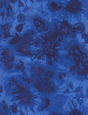 Beautiful Reverie Watercolor Floral Blue cotton Quilt fabric Timeless Treasures