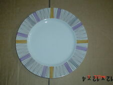 Barratts Delphatic White Tableware Stripes Salad Plate Vintage 1950's