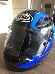 ARAI QUANTUM E  Motorcycle Helmet Blue Medium Large