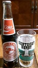 Official 1983 Kentucky Derby Mint Julep Glass & Commemorative Coca-Cola Bottle