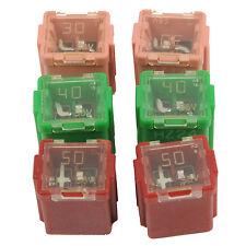 Low Profile 58V Automotive Female Cartridge Fuse 6 Pack Kit (2) Each 30A 40A 50A