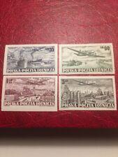 Poland Stamps 1952 Mnh 12 Coach Flying Over Several Landscapes