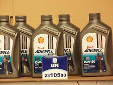 Shell Advance Ultra 4T 15W-50 / UFI Ölfilter Ducati 1200 Multistrada alle 10 -14