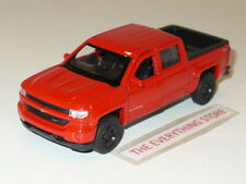 """WELLY 2017 CHEVY SILVERADO PICK UP TRUCK Z71 RED 4.75"""" FREE SHIP"""