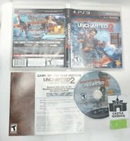 Uncharted 2: Among Thieves GOTY PlayStation 3 PS3 TESTED DISC CIB COMPLETE +DLC