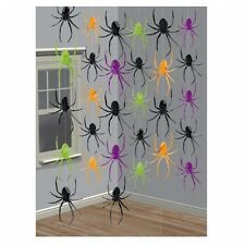12x 7ft Spider Foil String Dangling Hanging Halloween Party Decorations
