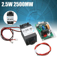 Focusable 2.5W 2500mW 450nm 445nm Blue Laser Module TTL 12V DIY Engraving Glass