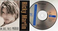 RICKY MARTIN CD single 2 tracks MADE in AUSTRIA Un dos tres Maria CARDSLEEVE