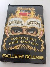 """MICHAEL JACKSON - Pepsi """"Someone Put Your Hand Out"""" 1992 Sealed 9 Track Cassette"""