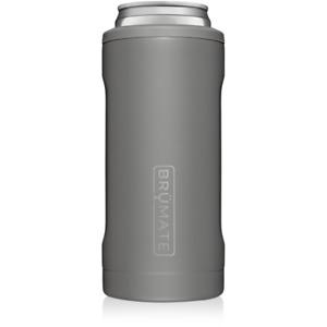 Brumate Hopsulator Slim Can Cooler Tumbler 12 oz Drink Holder Matte Gray