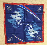 Delta Airlines 1996 Atlanta Olympics Flight Attendants Blue Silk Uniform Scarf