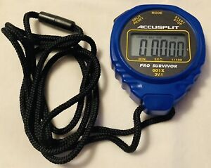ACCUSPLIT Pro Survivor - A601X Stopwatch, Clock, Extra Large Display BLUE