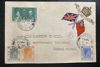 1938 Hong Kong Commercial Cover To Locally Used King George 6 KGVI Coronation