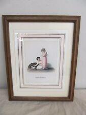 "Antique Victorian Art Print Reproduction ""Tenderness"" Girls & Kittens B.P. Co."