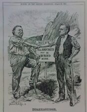 "7x10"" punch cartoon 1911 DISARMAGEDDON william taft / edward grey"