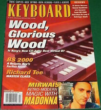 2001 KORG CX-3 KEYBOARD Magazine Review Casio MZ-2000, Sorceror Analog, Madonna